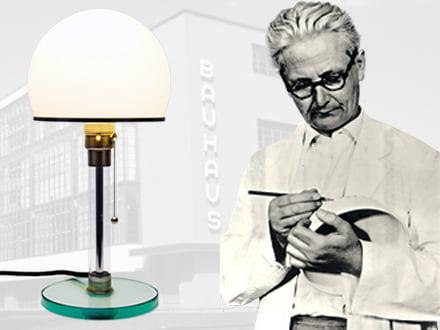 Wilhelm Wagenfeld - Designer of the lights WG24, WA24, WG25