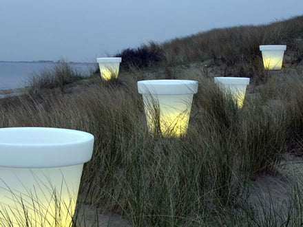 Bloom Pot luminous object with lighting