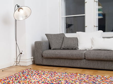 Felt rug by Myfelt in the living room