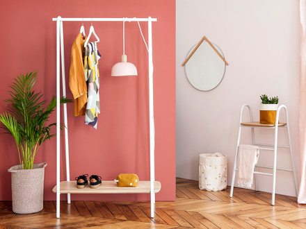 Coat Rack with a simple and clean design