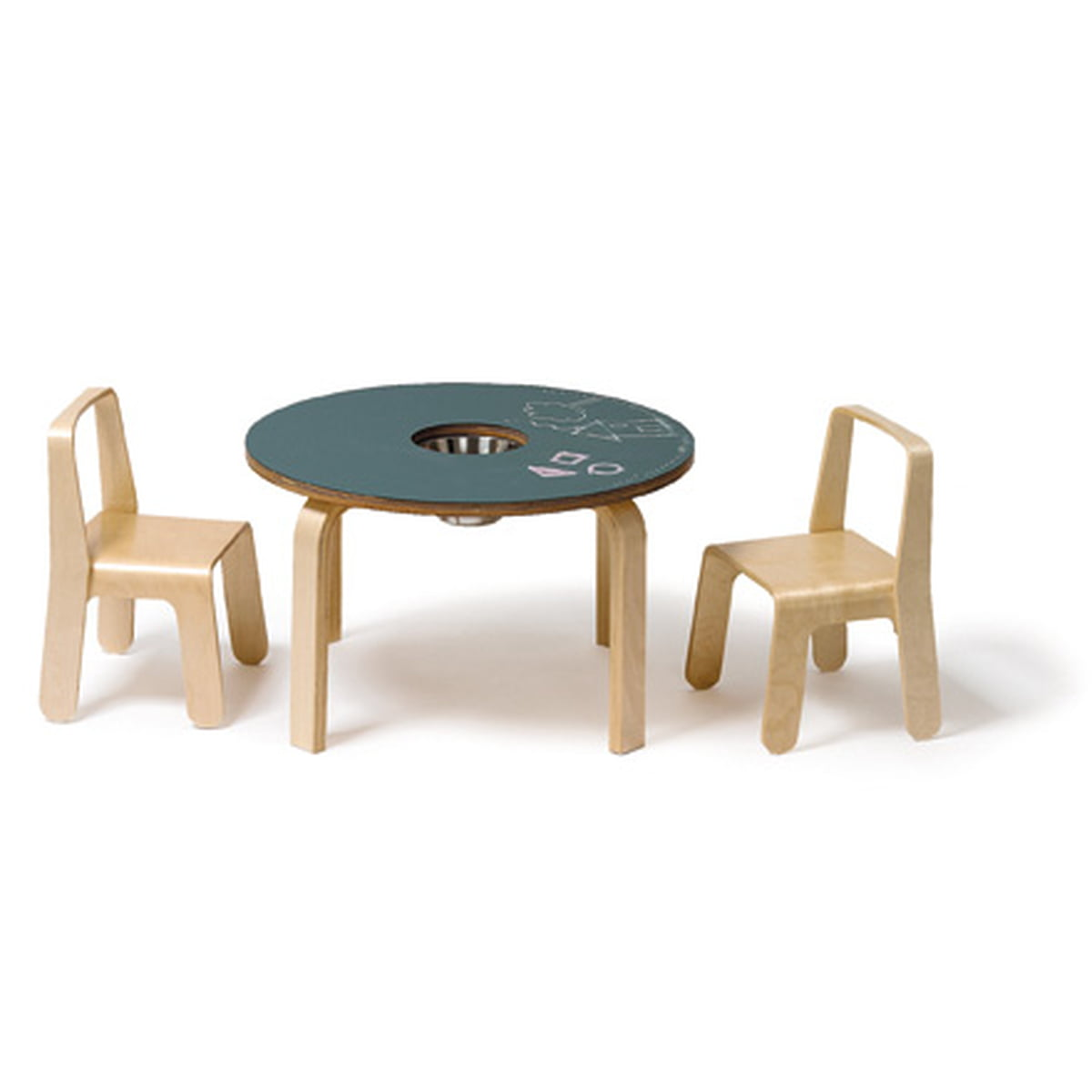 Wonderful Offi   Woody Chalkboard Table With 2 Look Me Childrenu0027s Chairs