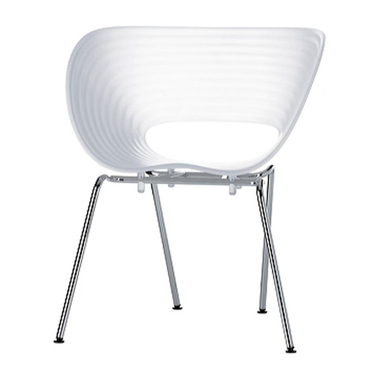 Vip Stoelen 50 Shades Of Grey.Vitra Tom Vac Chrome Plated White Plastic Pads