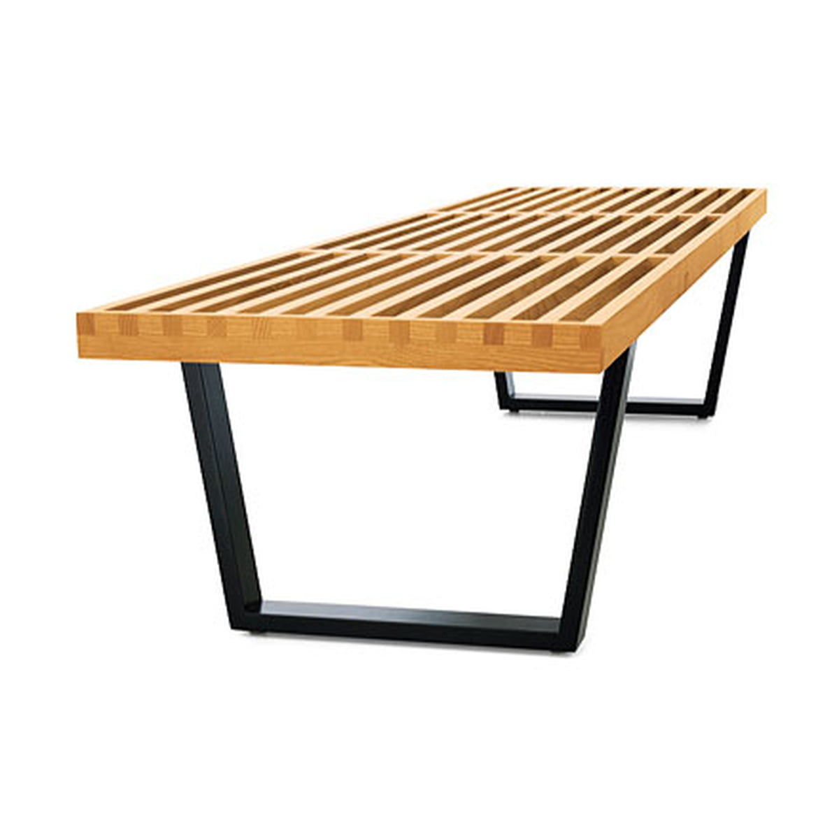 Marvelous Vitra Nelson Bench 353 X 1220 X 469 Mm Andrewgaddart Wooden Chair Designs For Living Room Andrewgaddartcom