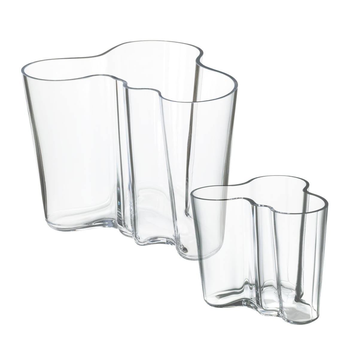 offer alvar aalto vases set of 2 clear 160 95 mm - Aalto Vase