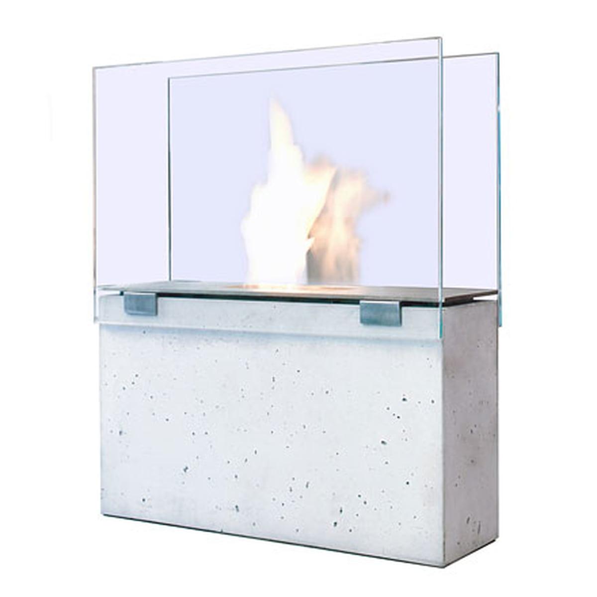 Conmoto Fireplace Muro   With Glass