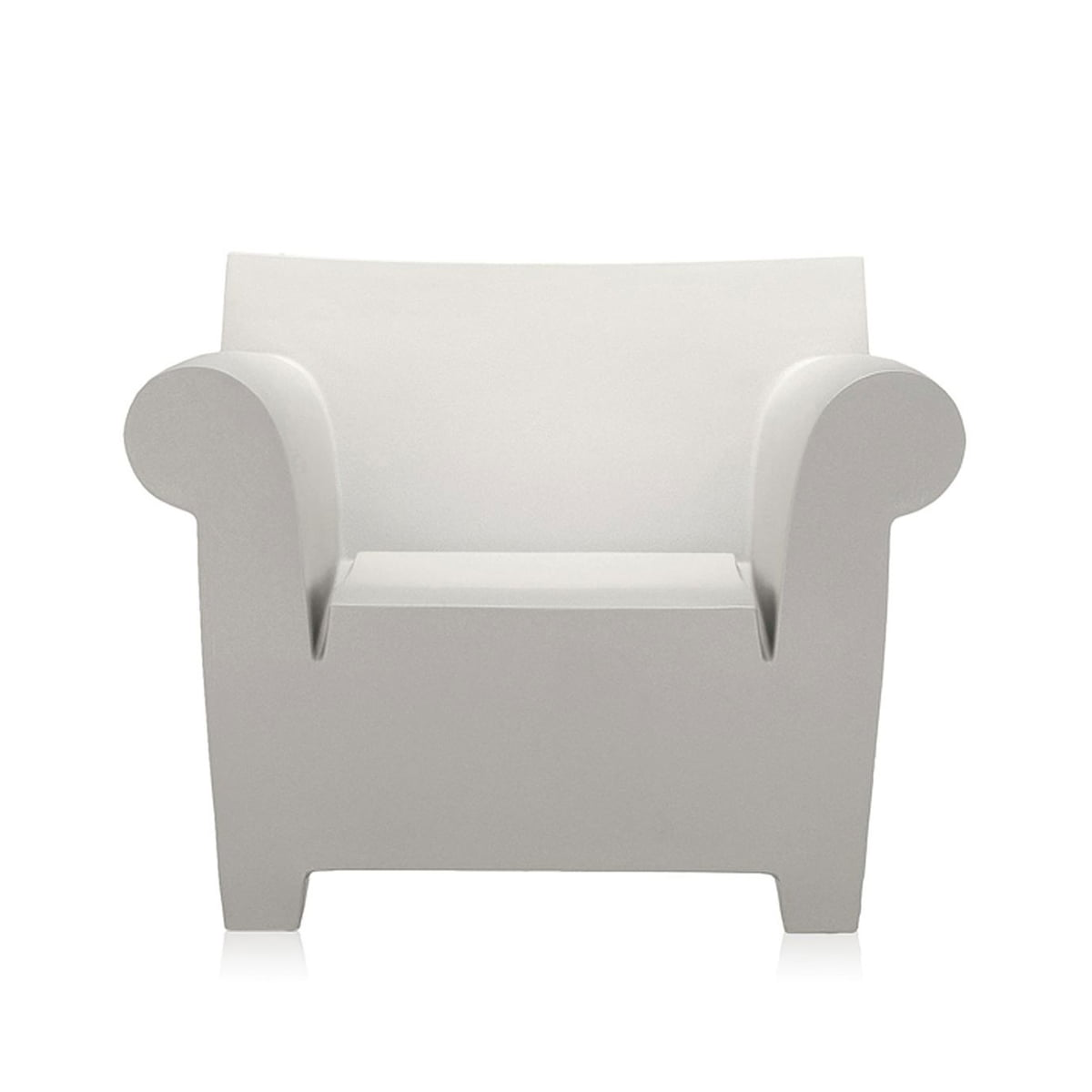 Delightful Kartell   Bubble Club Armchair, Zinc White