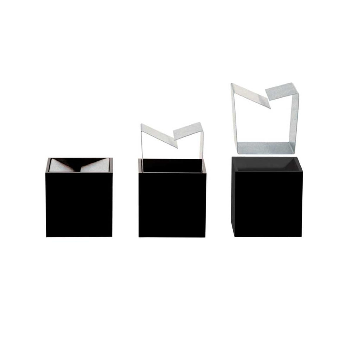 Table ashtray danese cubo by bruno munari for Danese design milano