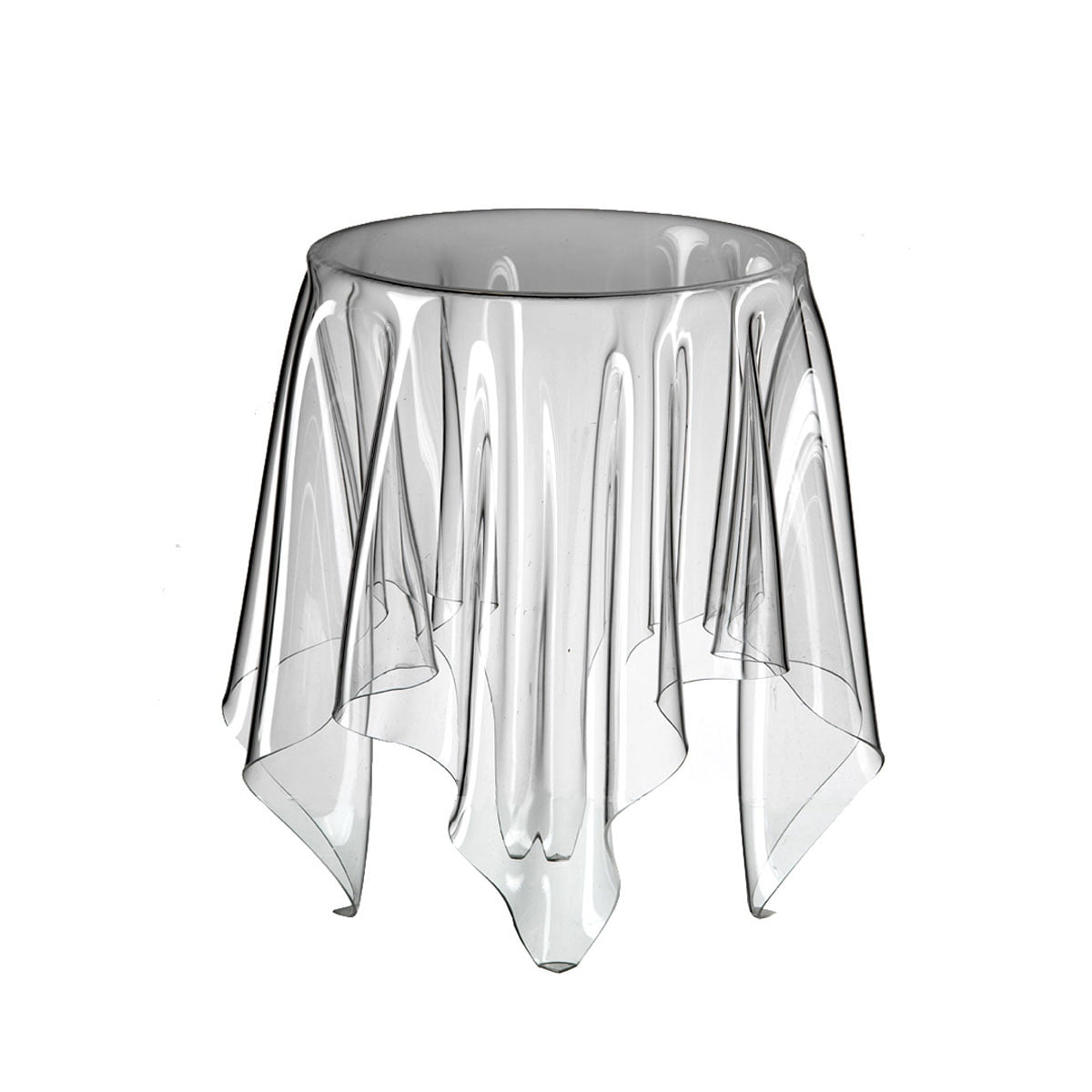 Good Illusion Side Table   Transparent