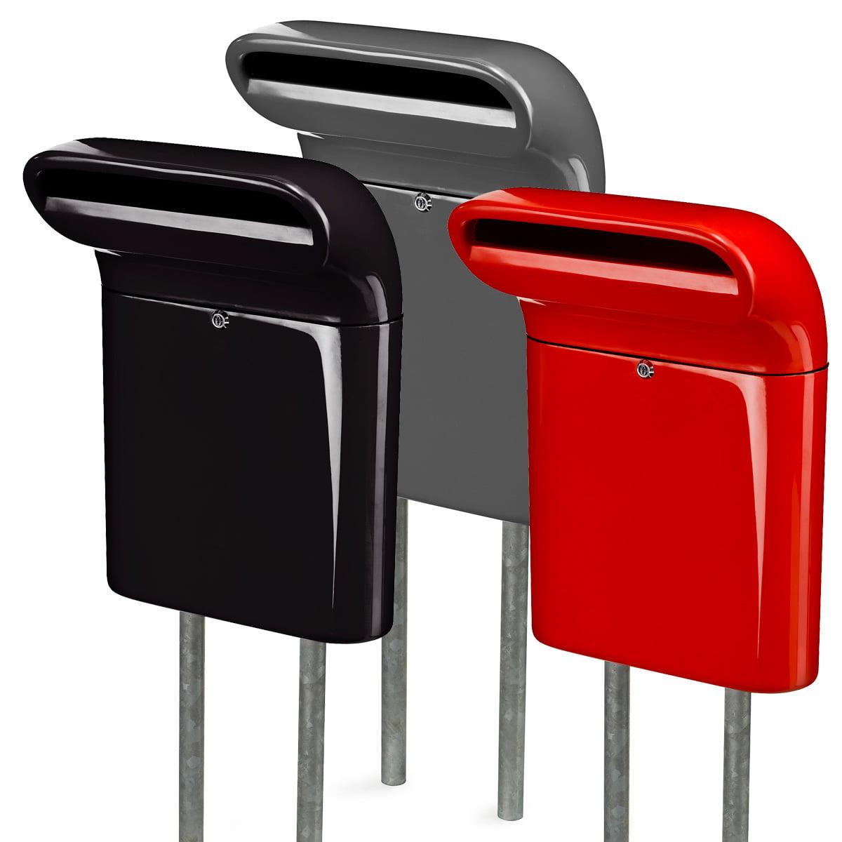 mailbox. Plain Mailbox Born In Sweden  Mailbox S Black Grey Red In