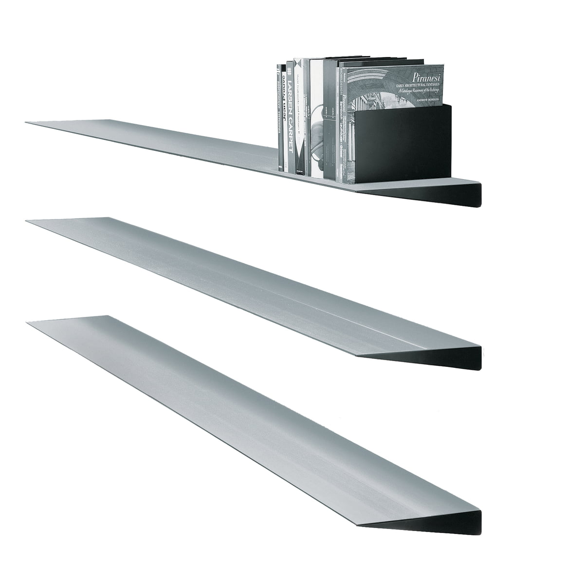 Wogg 10 aluminum wall shelf