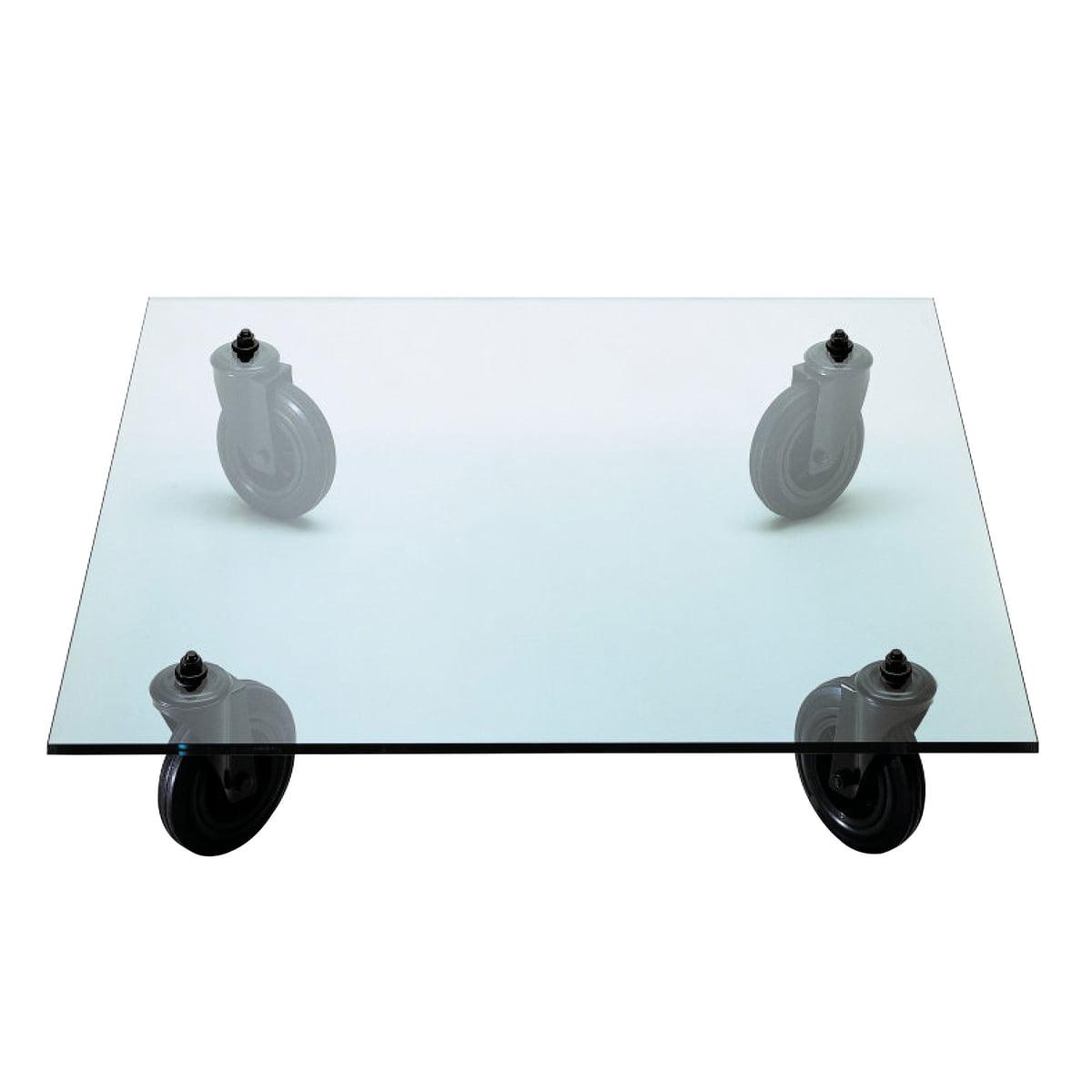 Tavolino Coffee Table.Fontanaarte Tavolino Con Ruote Sofa Table 100x100 Cm