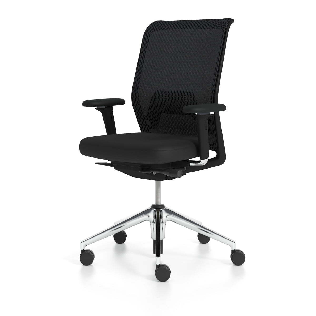 Vitra   ID Mesh Office Chair, Nero / Aluminium Polished