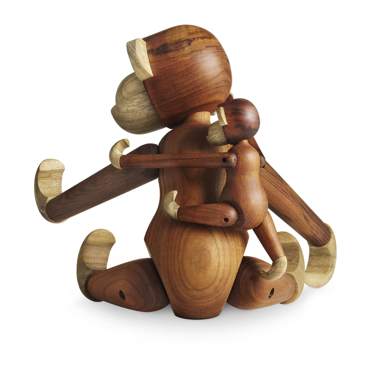 Kay Bojesen Wooden Monkey Small Limbo Wood Teak Wood
