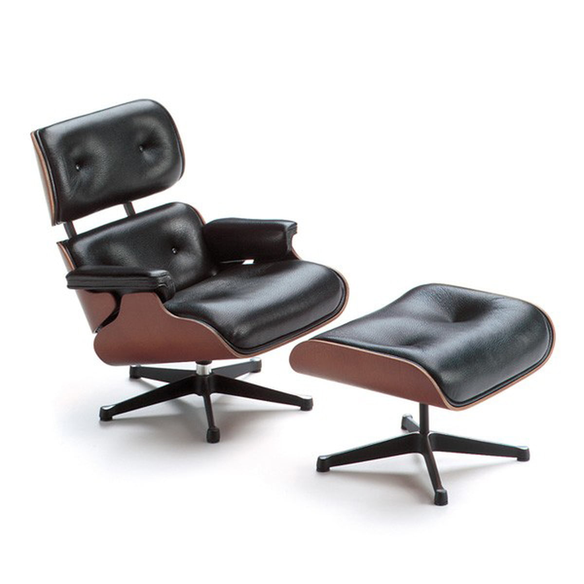 Miniature lounge chair ottoman by vitra for Vitra lounge chair nachbau