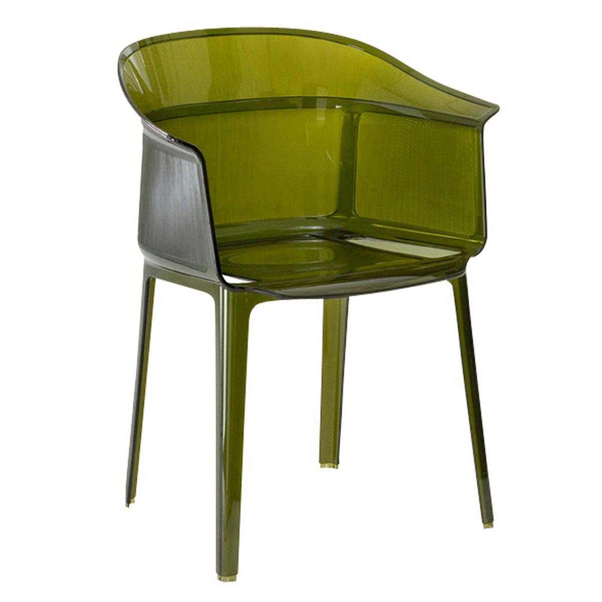 Kartell   Papyrus Armchair, Olive Green