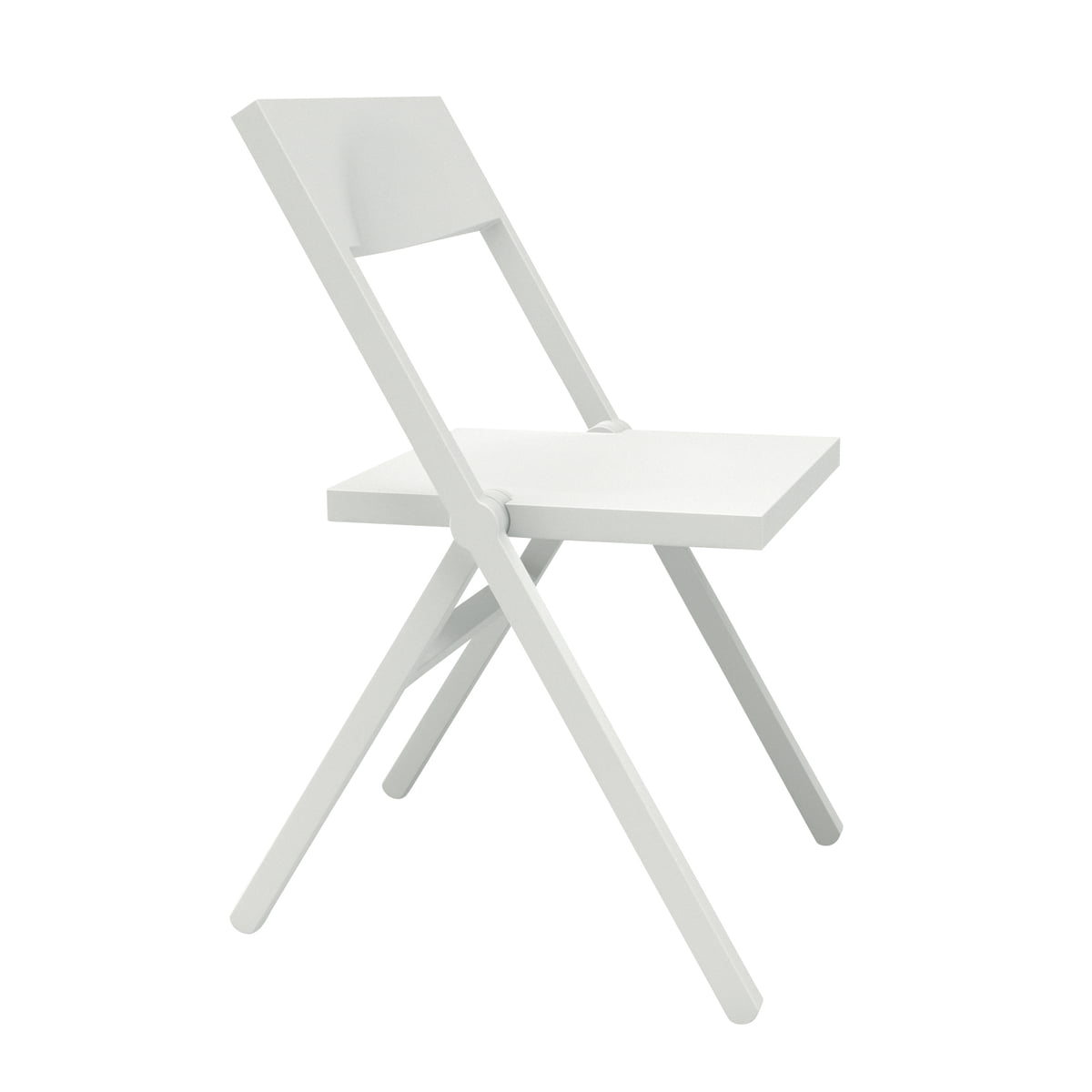 Alessichair By Lamm   Piana Folding Chair, White
