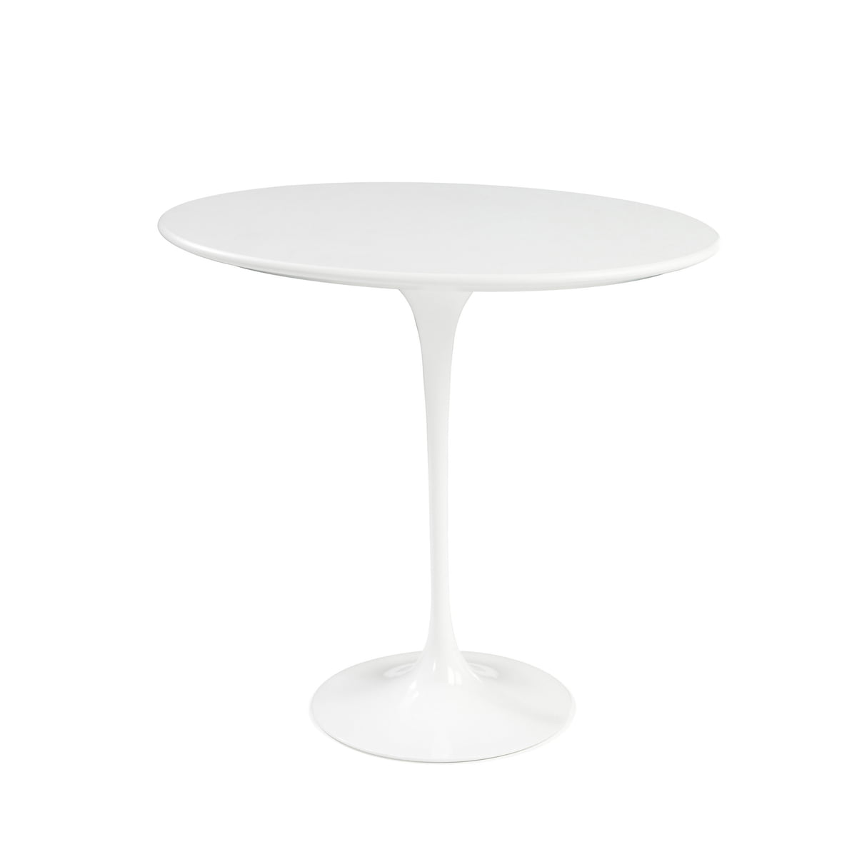 Knoll   Saarinen Tulip Side Table Round   White / Laminate White