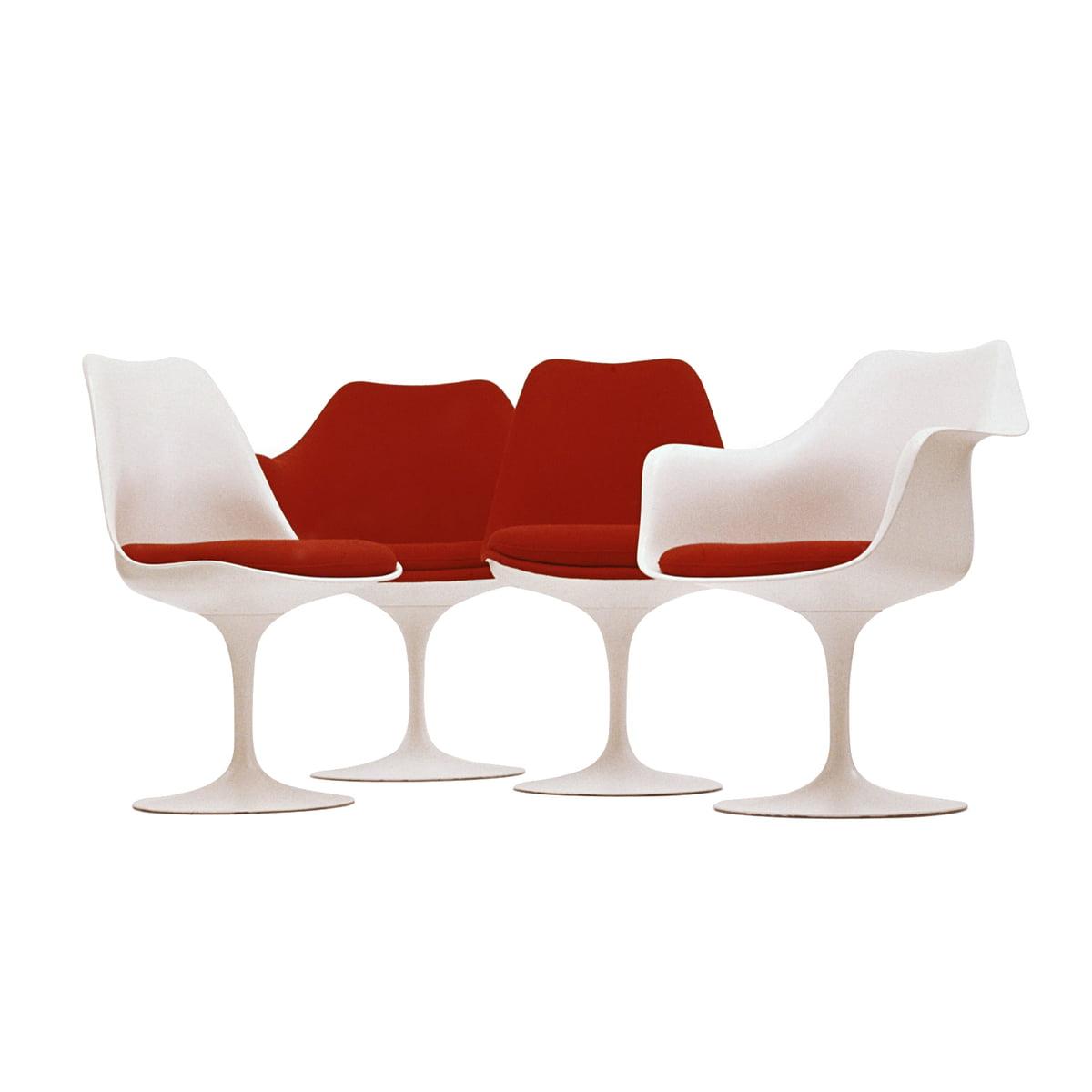 Knoll Saarinen Tulip Chair Swivelling White Cushion Tonus Black 128