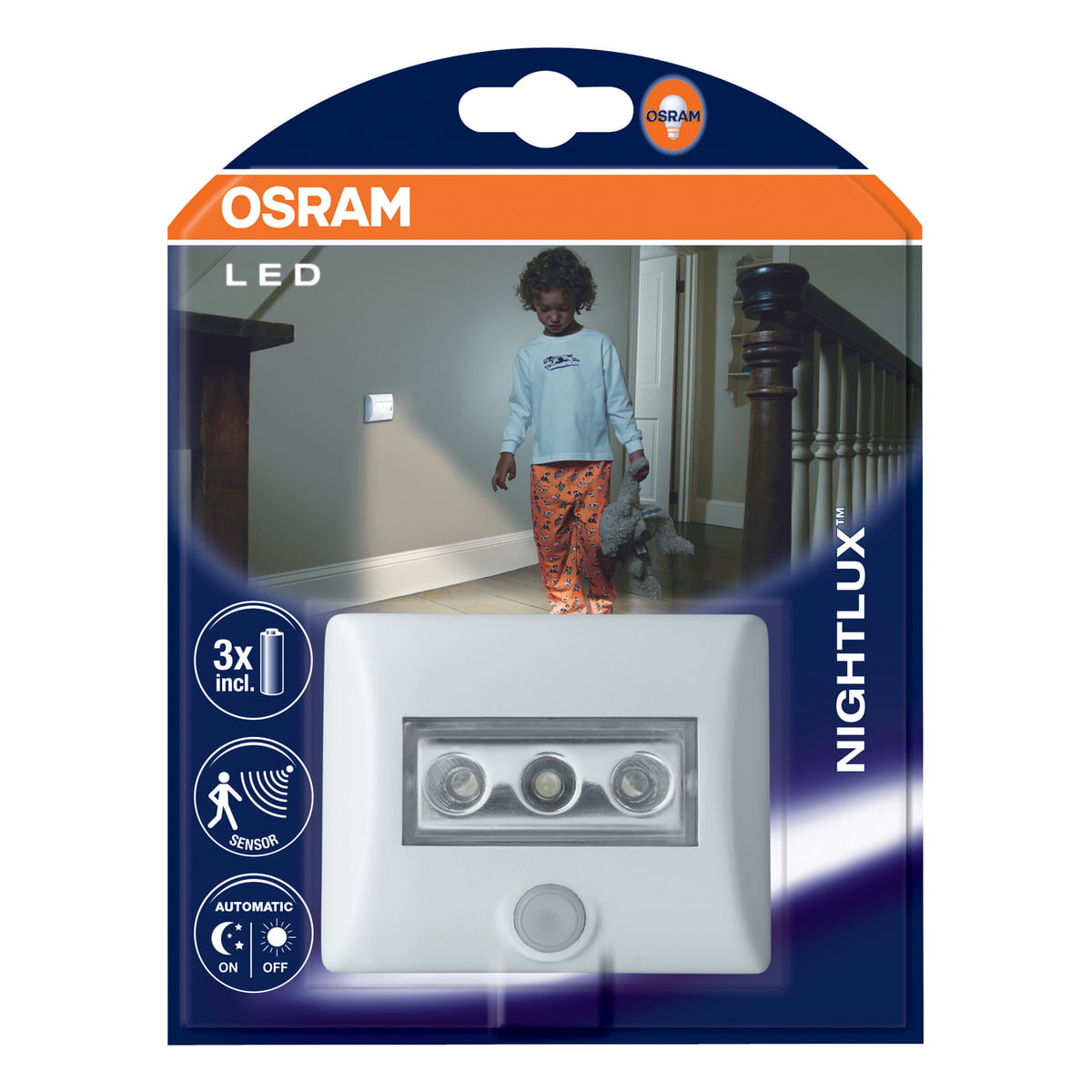 nightlux led orientation light by osram. Black Bedroom Furniture Sets. Home Design Ideas