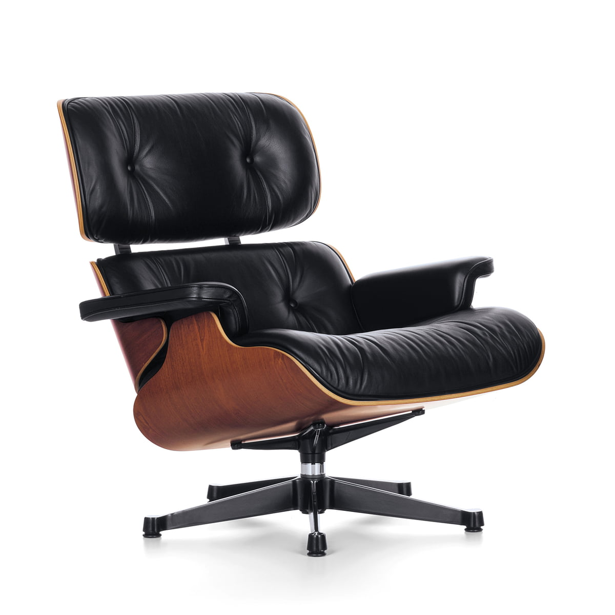Modern classic lounge chair - Vitra Lounge Chair Cherry Wood Classic Size