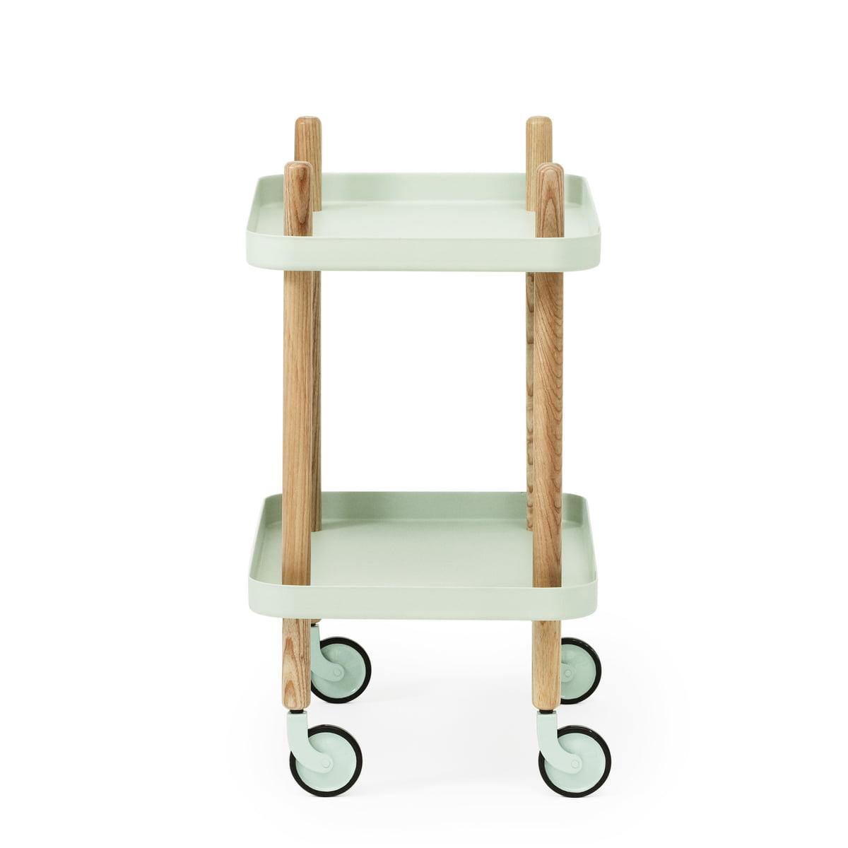 Block table trolley by normann copenhagen connox shop - Normann copenhagen block table ...