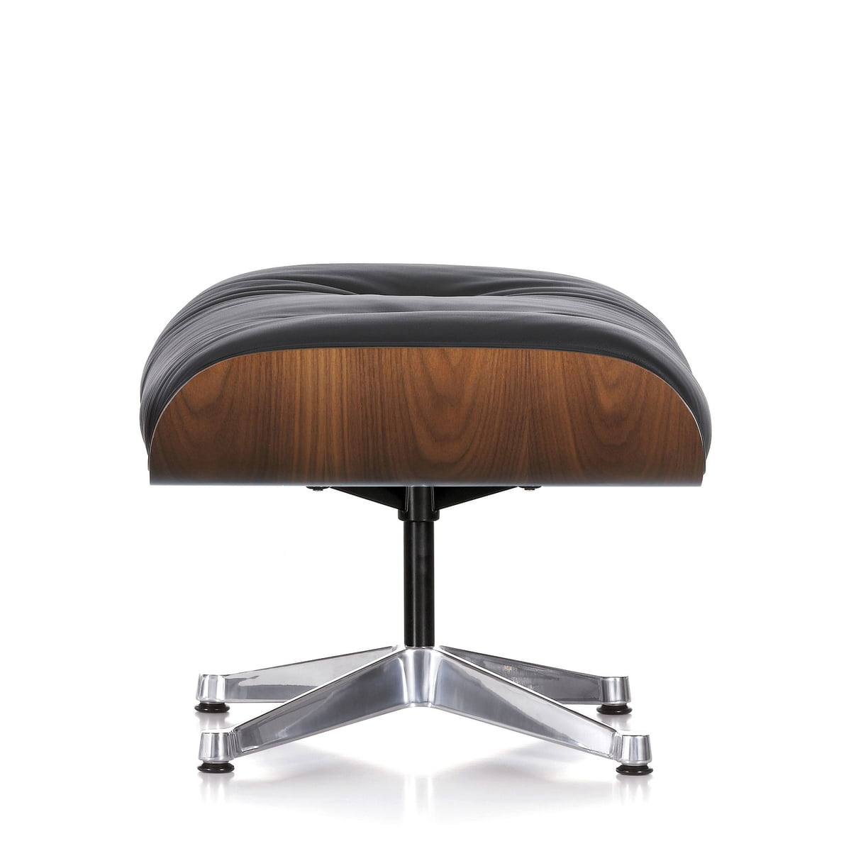 Ottoman black to the vitra lounge chair for Vitra lounge chair nachbau