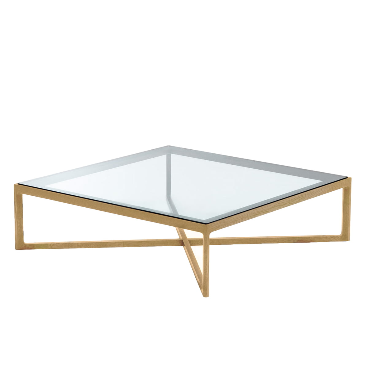 Knoll - Marc Krusin Coffee Table, oak / glass tabletop