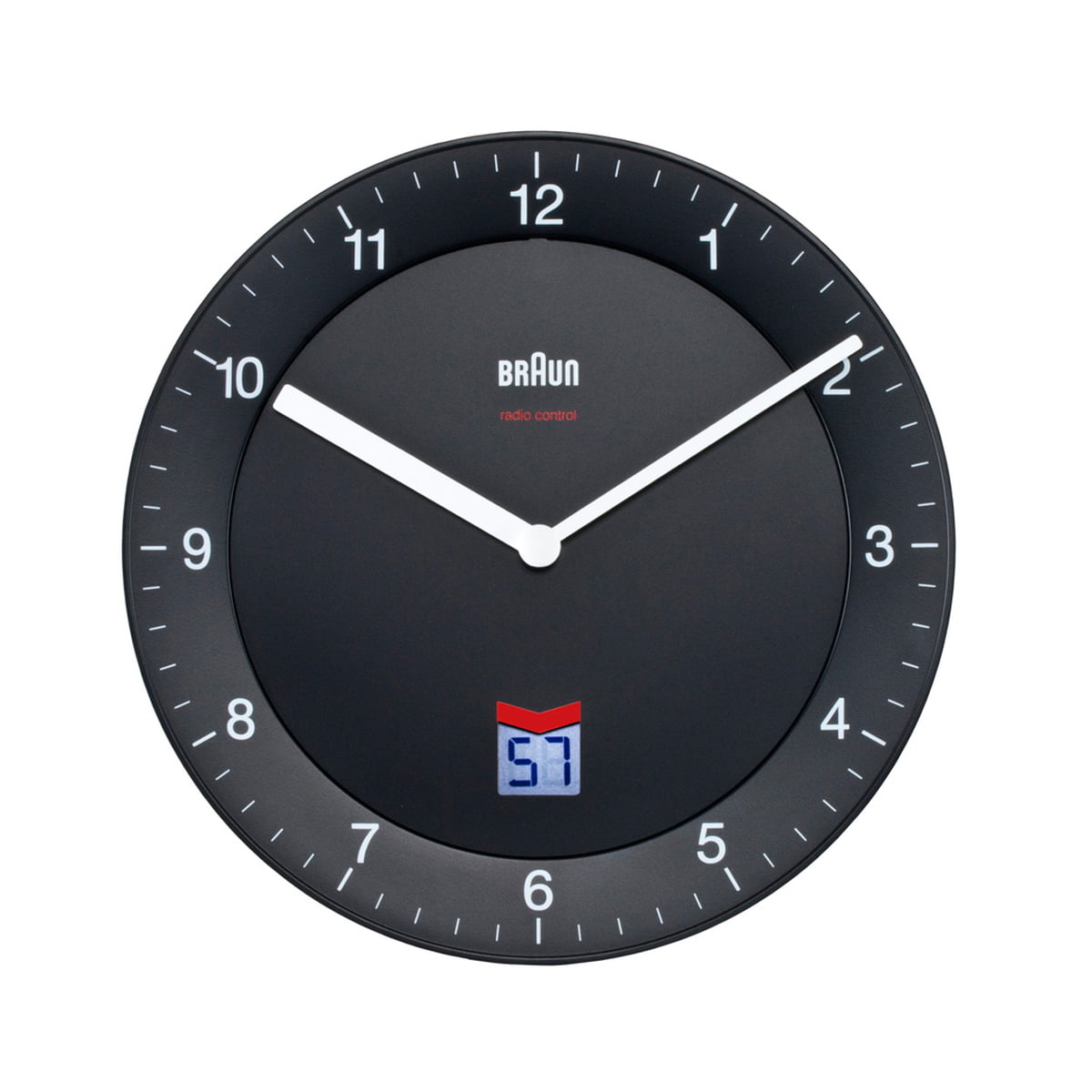Digital radio controlled wall clock gallery home wall decoration radio controlled wall clock bnc006 braun shop braun analogue radio controlled wall clock bnc006 black amipublicfo amipublicfo Image collections