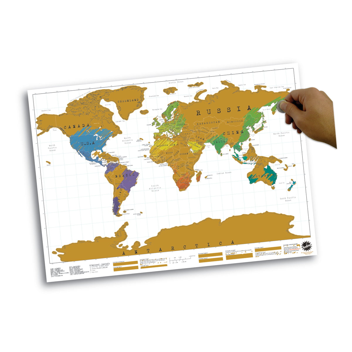 Luckies Scratch Map Scratch Map | Luckies | Shop
