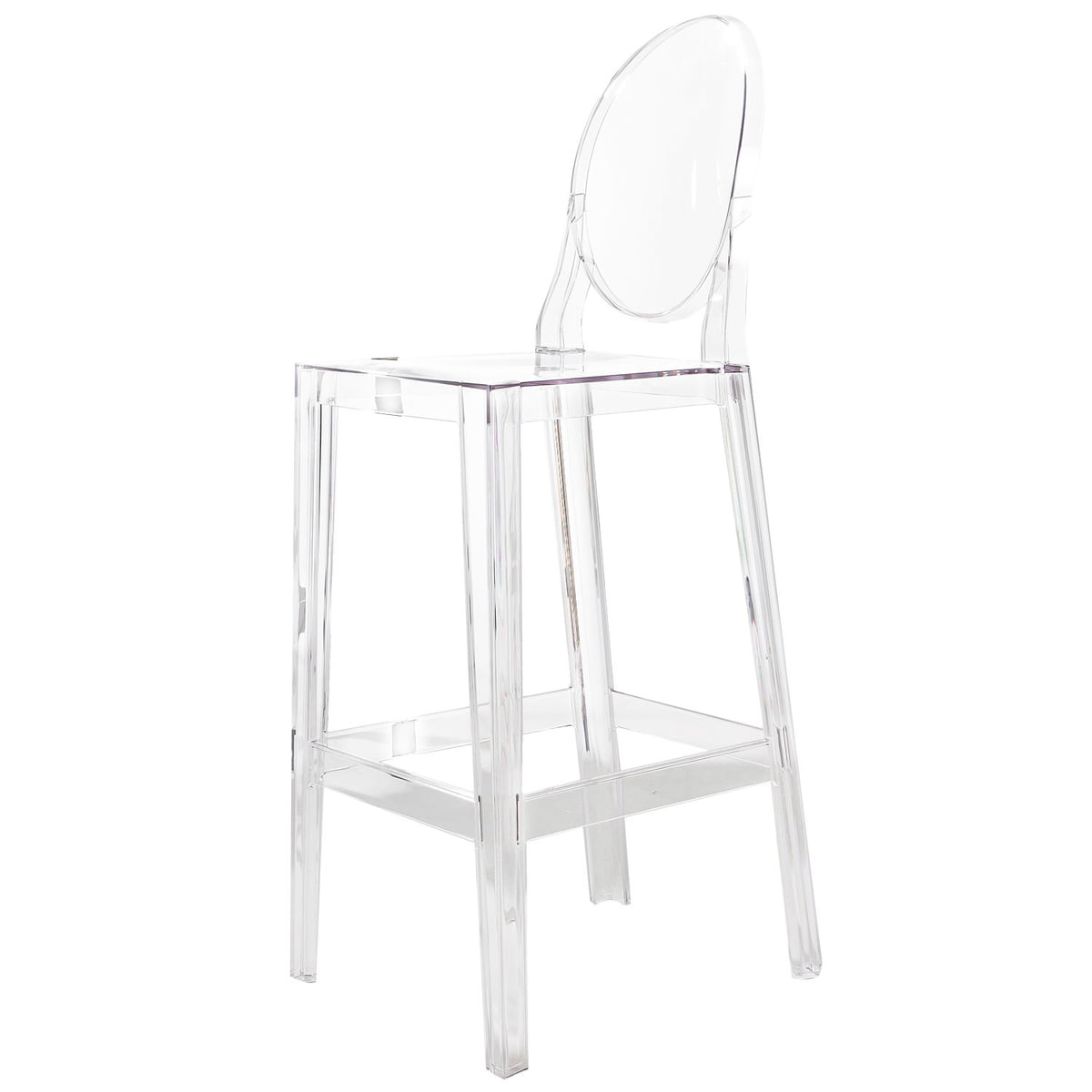 Kartell   One More, One More Please Stool, Oval H 110 Cm, Clear