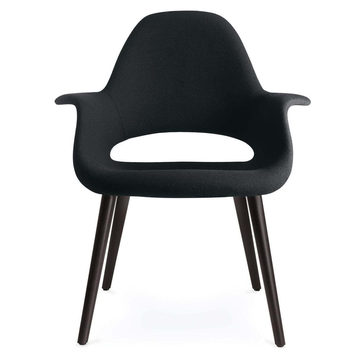 Vitra Organic Chair Ash Black Hopsak Nero