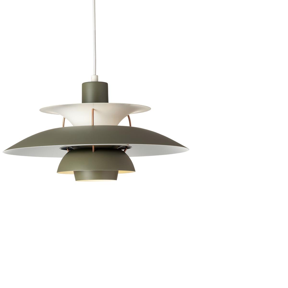 ph lighting. Louis Poulsen - PH 5 Pendant Light, Army Green / Darkgrey Ph Lighting