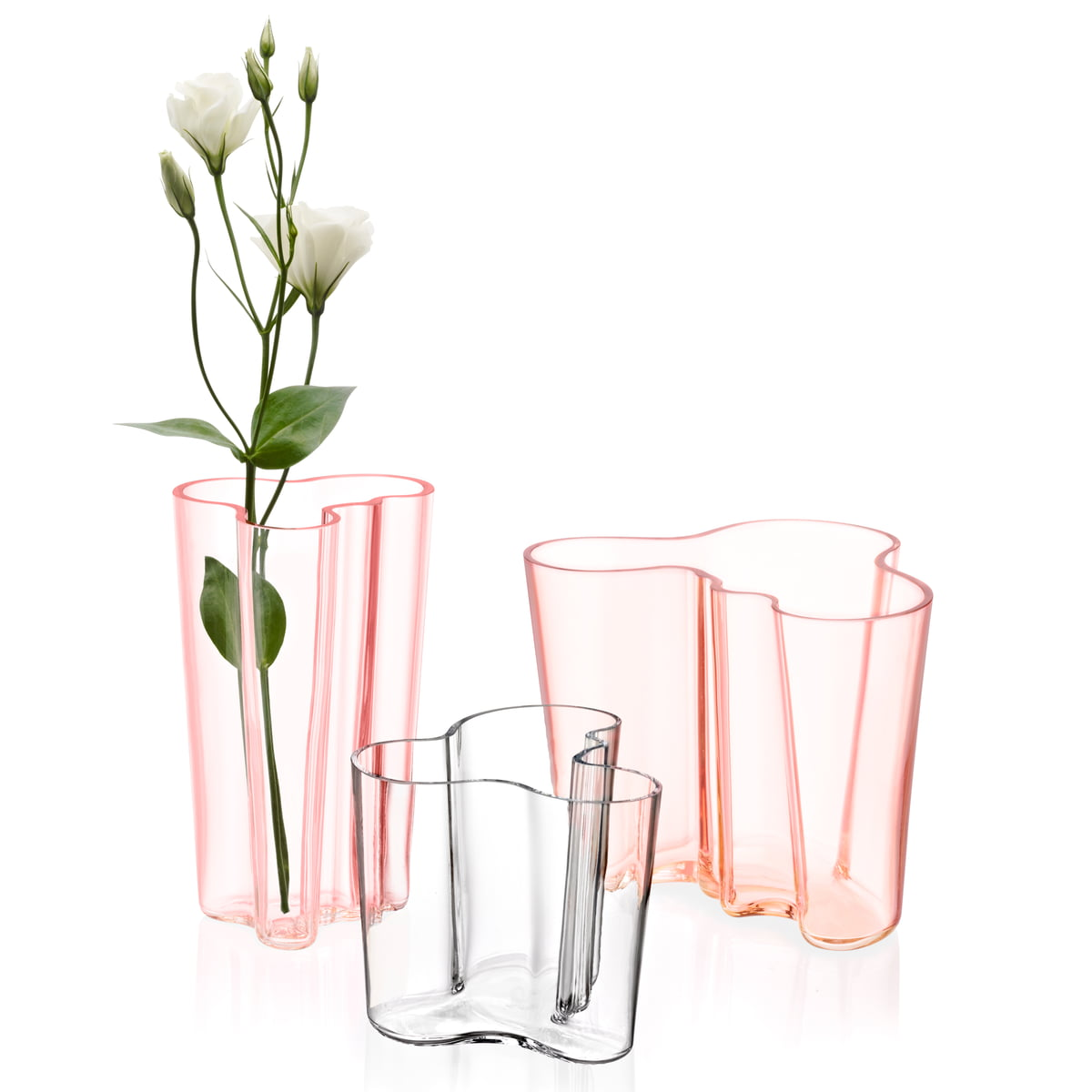 iittala aalto gruppegroup with flower single image - Aalto Vase