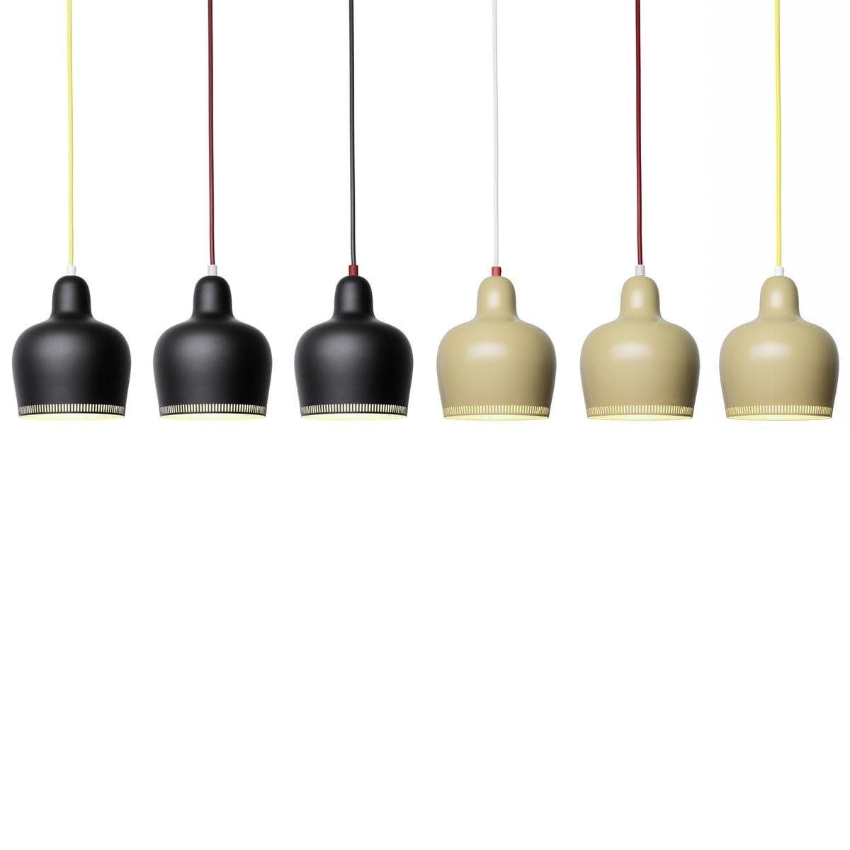 Artek A 330s Golden Bell Pendant Lamp White