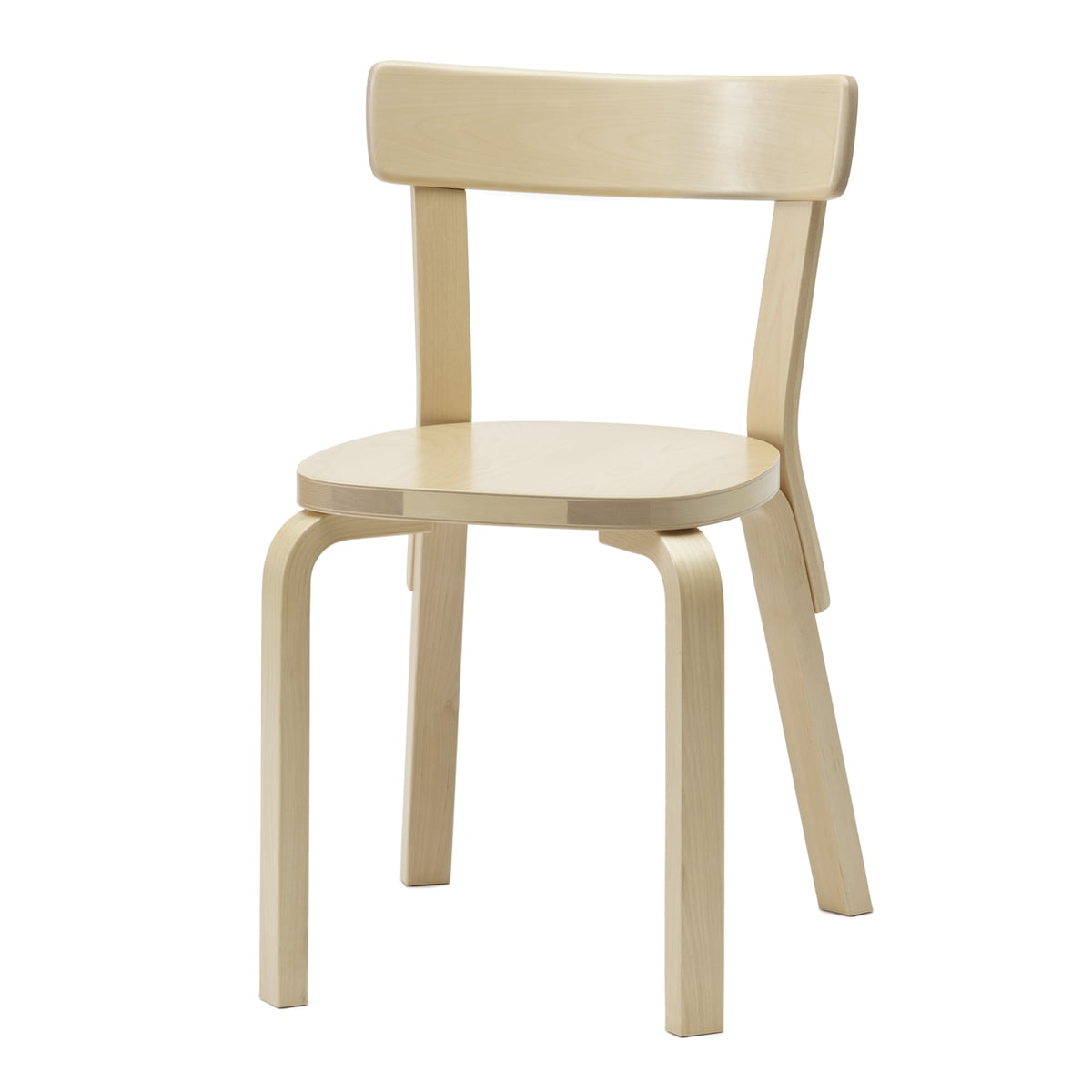 Artek chair 69 birch wood without cushion