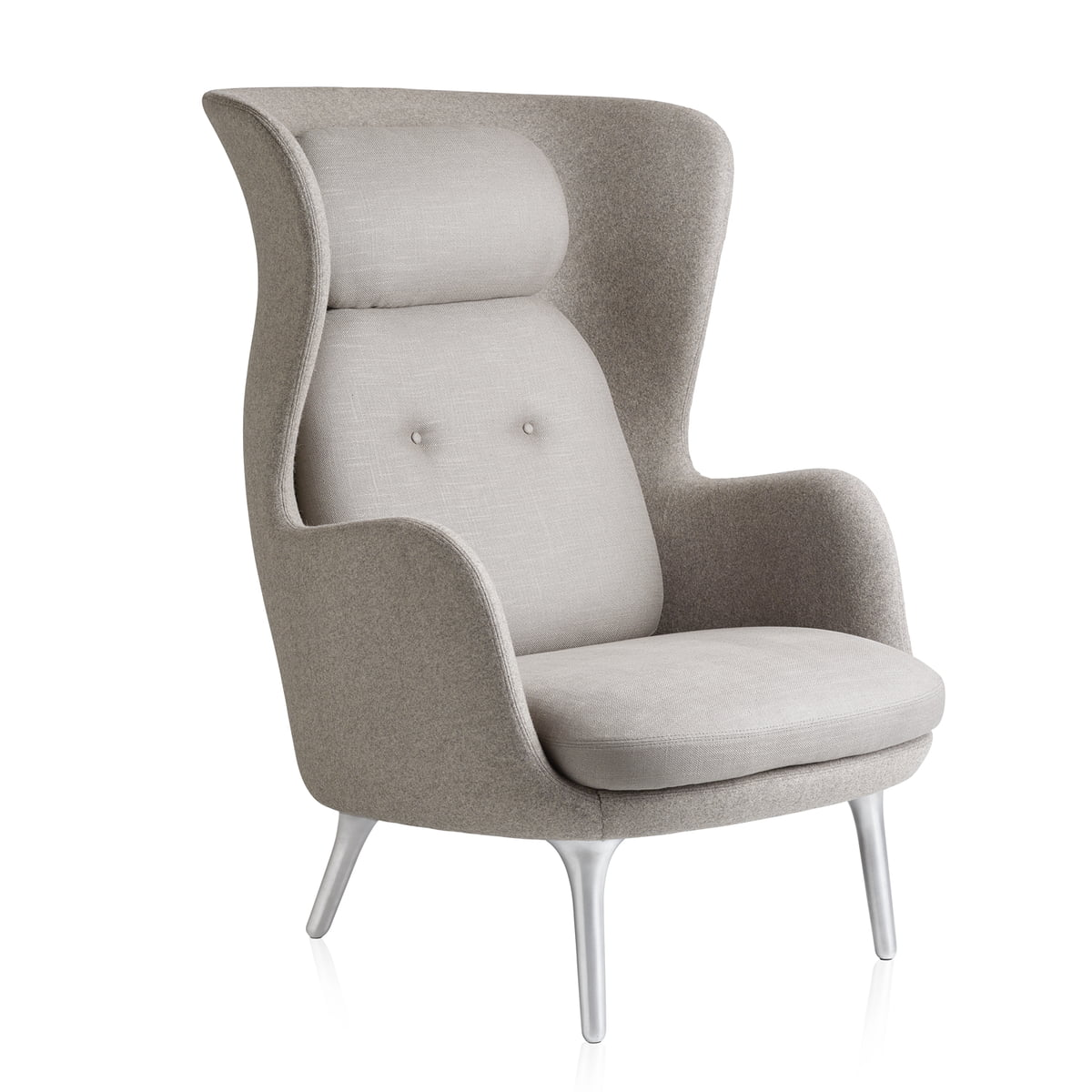 sessel taupe, ro armchair by fritz hansen | connox, Design ideen