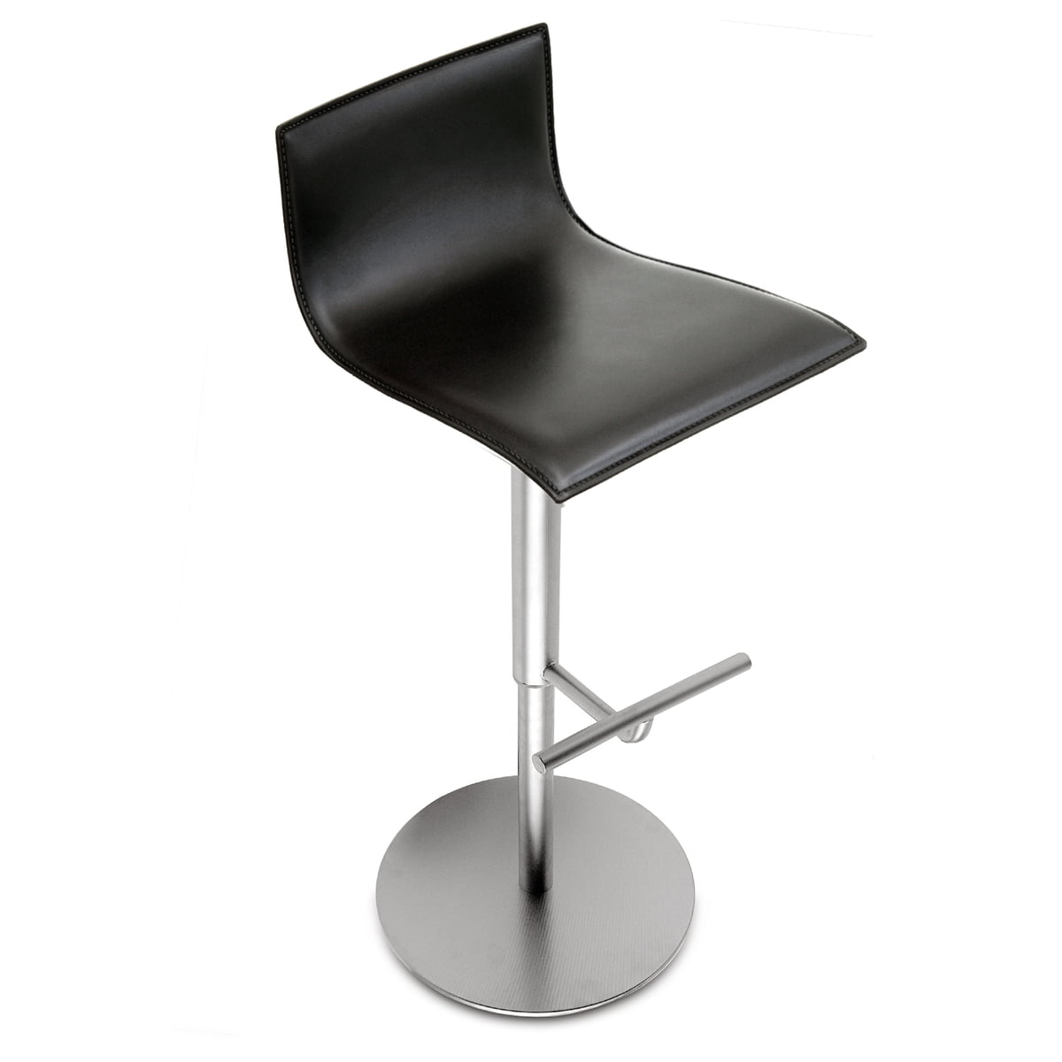 Pleasing La Palma Thin Bar Stool 70 95 Cm Total Height White Lacquered Frame Stainless Steel Squirreltailoven Fun Painted Chair Ideas Images Squirreltailovenorg