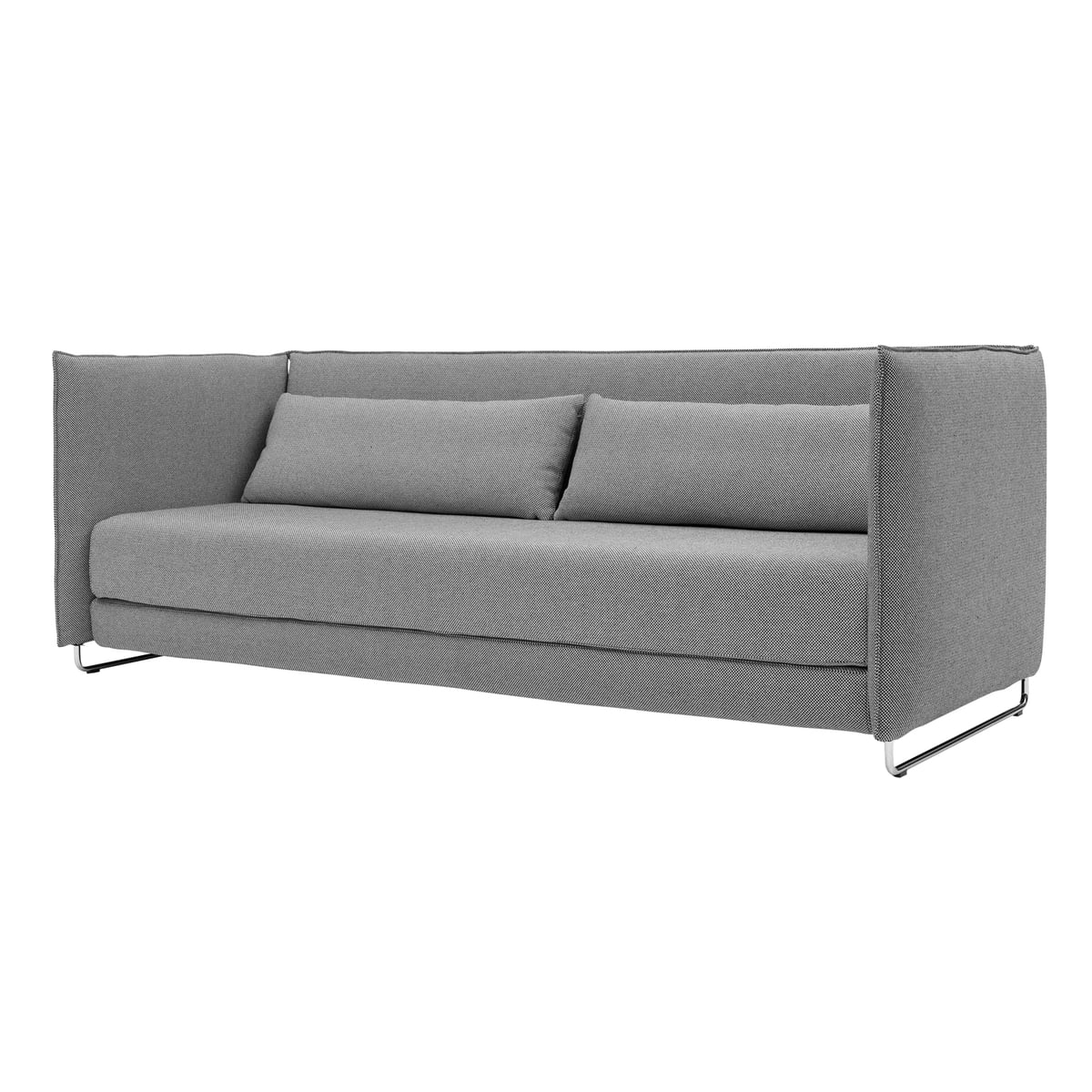 Softline Metro Bed Sofa Light Grey Front
