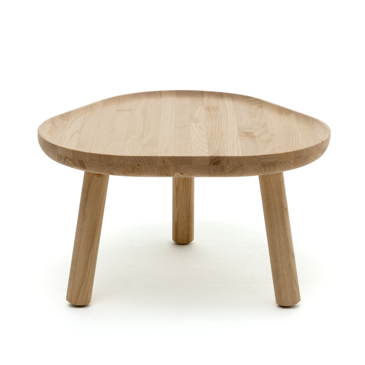 Soft triangle table by karimoku new standard the karimoku new standard soft triangle coffee table in natural geotapseo Choice Image