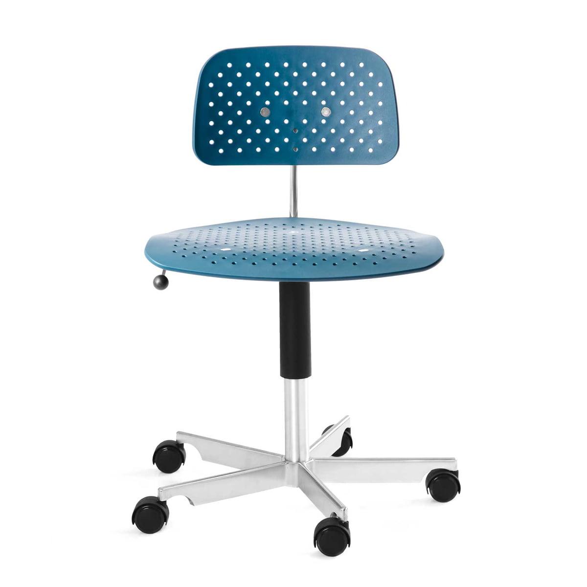 Engelbrechts   Kevi Air Swivel Chair, Ocean Blue