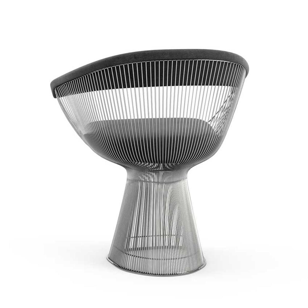 Knoll   Platner Arm Chair, Velvet Graphite