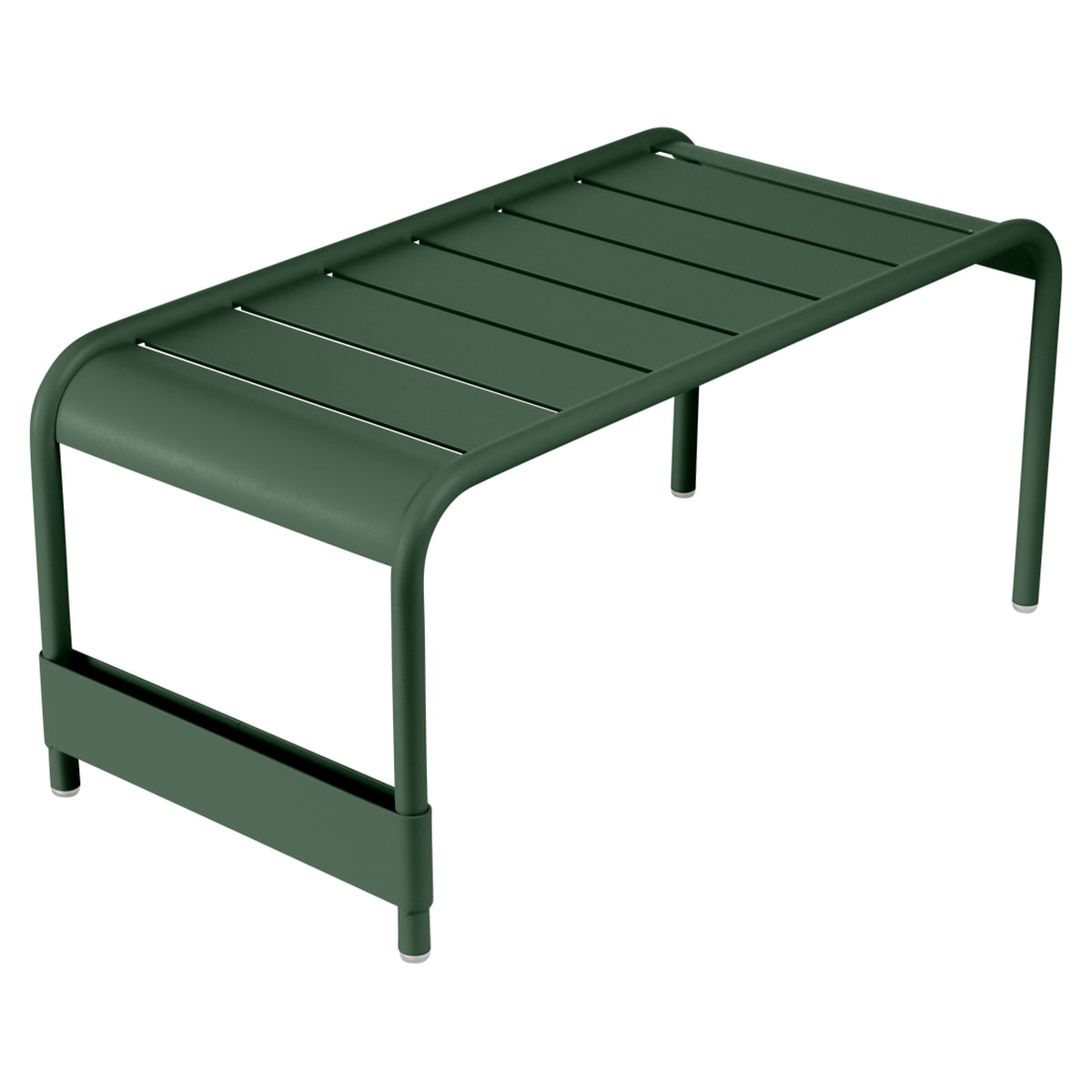 Fermob   Luxembourg Large Low Table / Garden Bench, Cedar Green