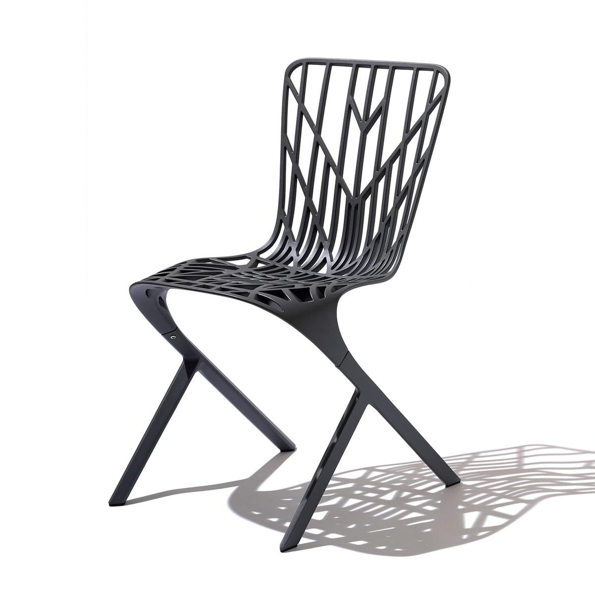 Charmant Knoll   Washington Skeleton Chair, Aluminium Black