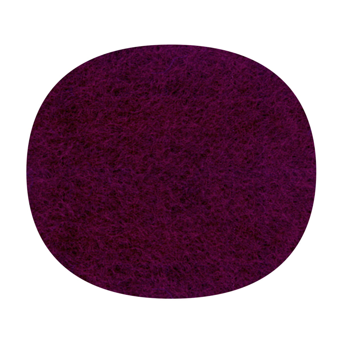 Hey Sign   Felt Cushion Eames Plastic Side Chair, Aubergine, 5mm
