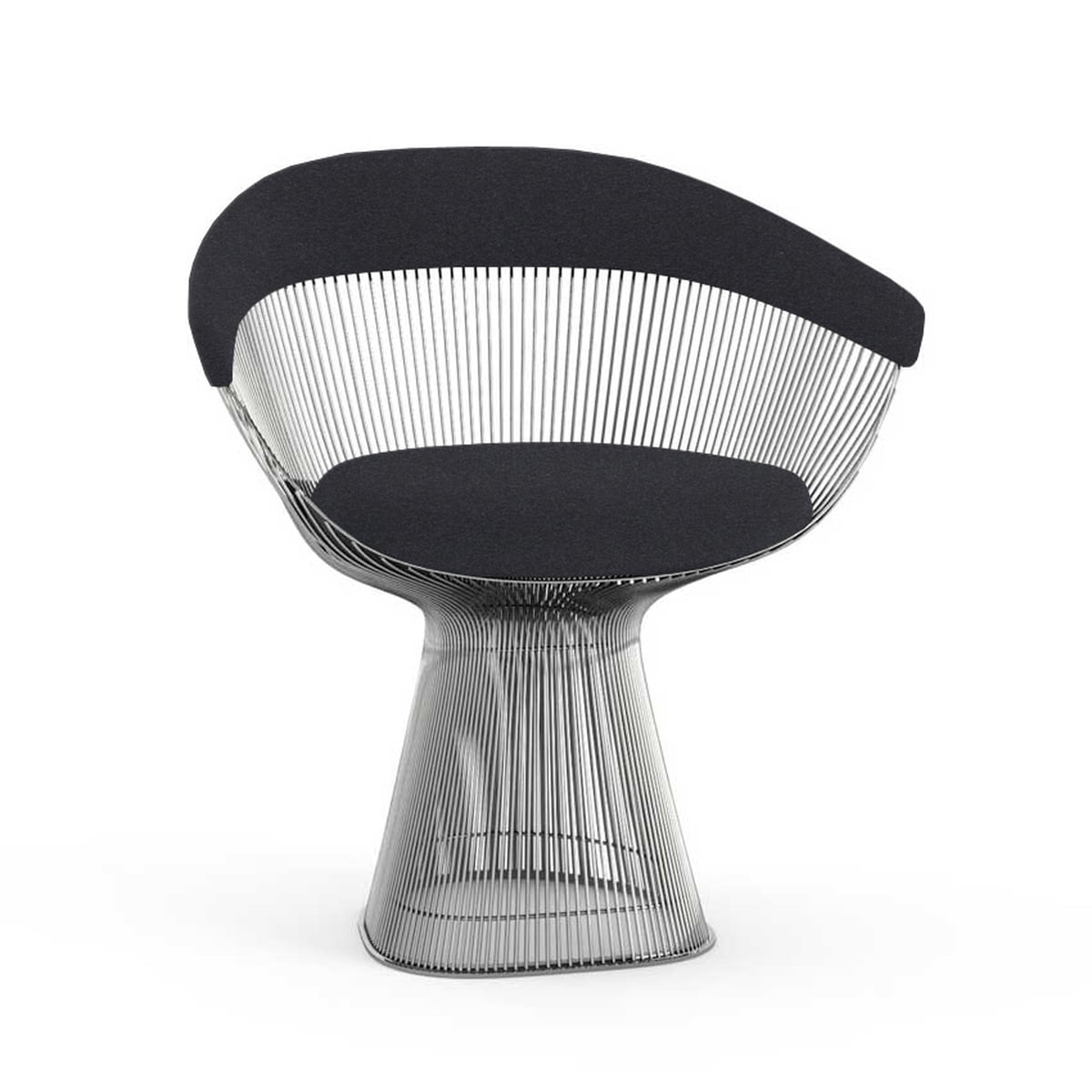 Delicieux Knoll   Platner Armchair, Small, Polished Nickel