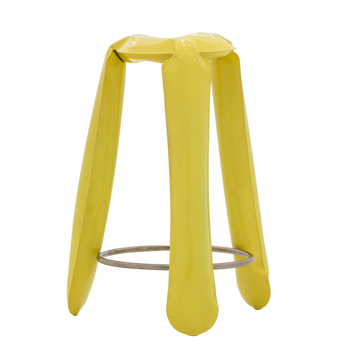 Buy now the plopp bar stool by zieta at the shop for Barhocker gelb