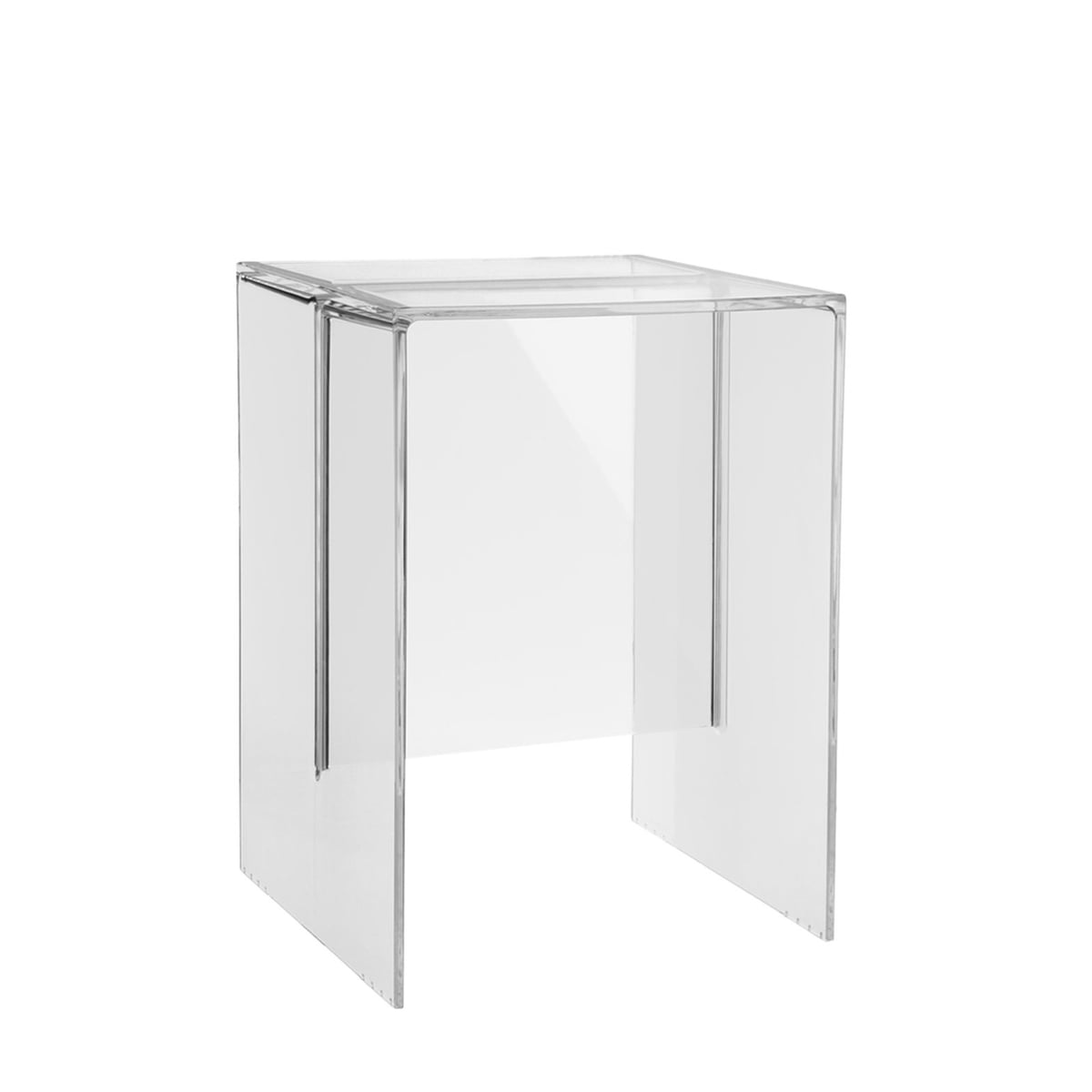 Kartell   Max Beam Stool / Side Table, Transparent Crystal Clear
