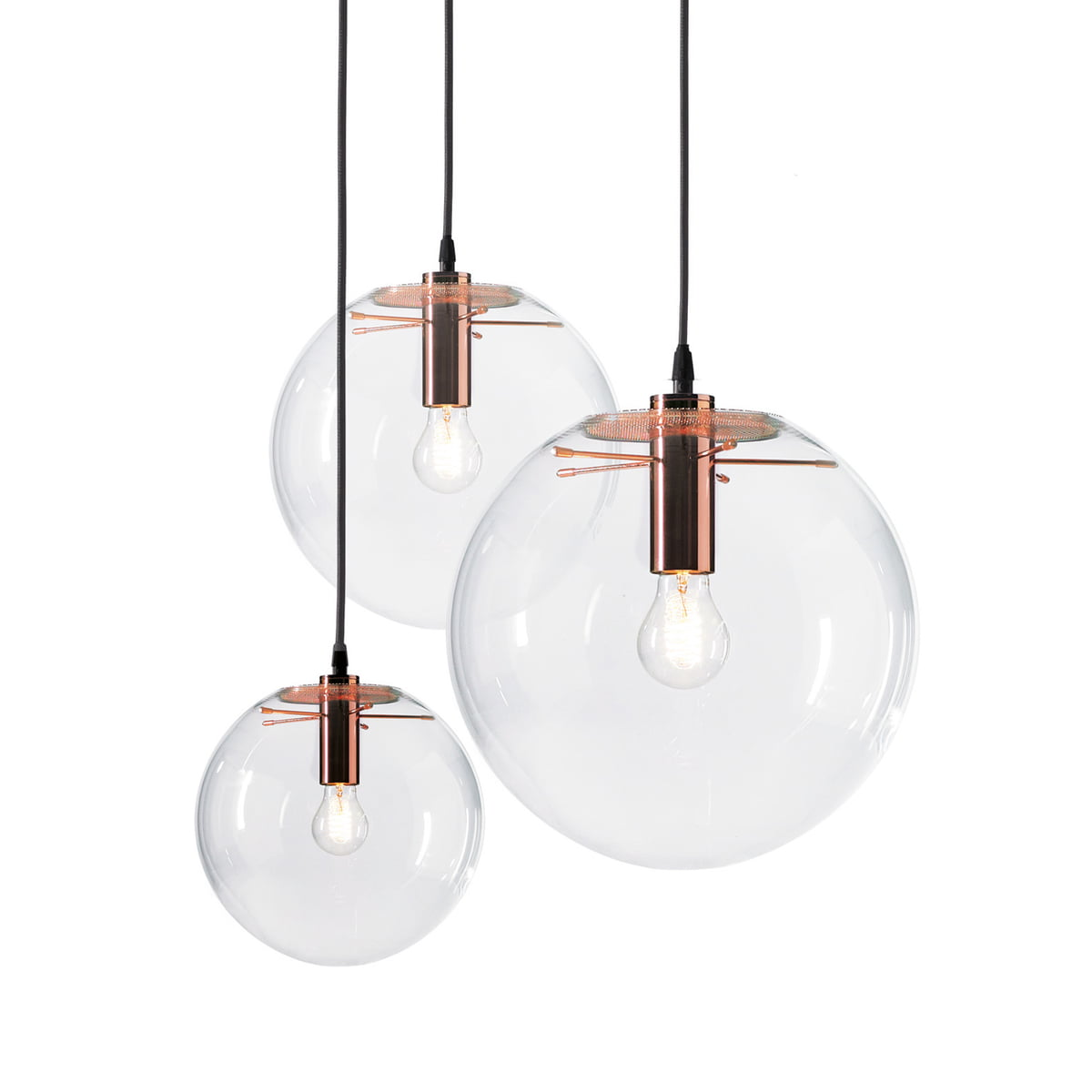 The selene pendant light copper by classicon for Suspension luminaire contemporain