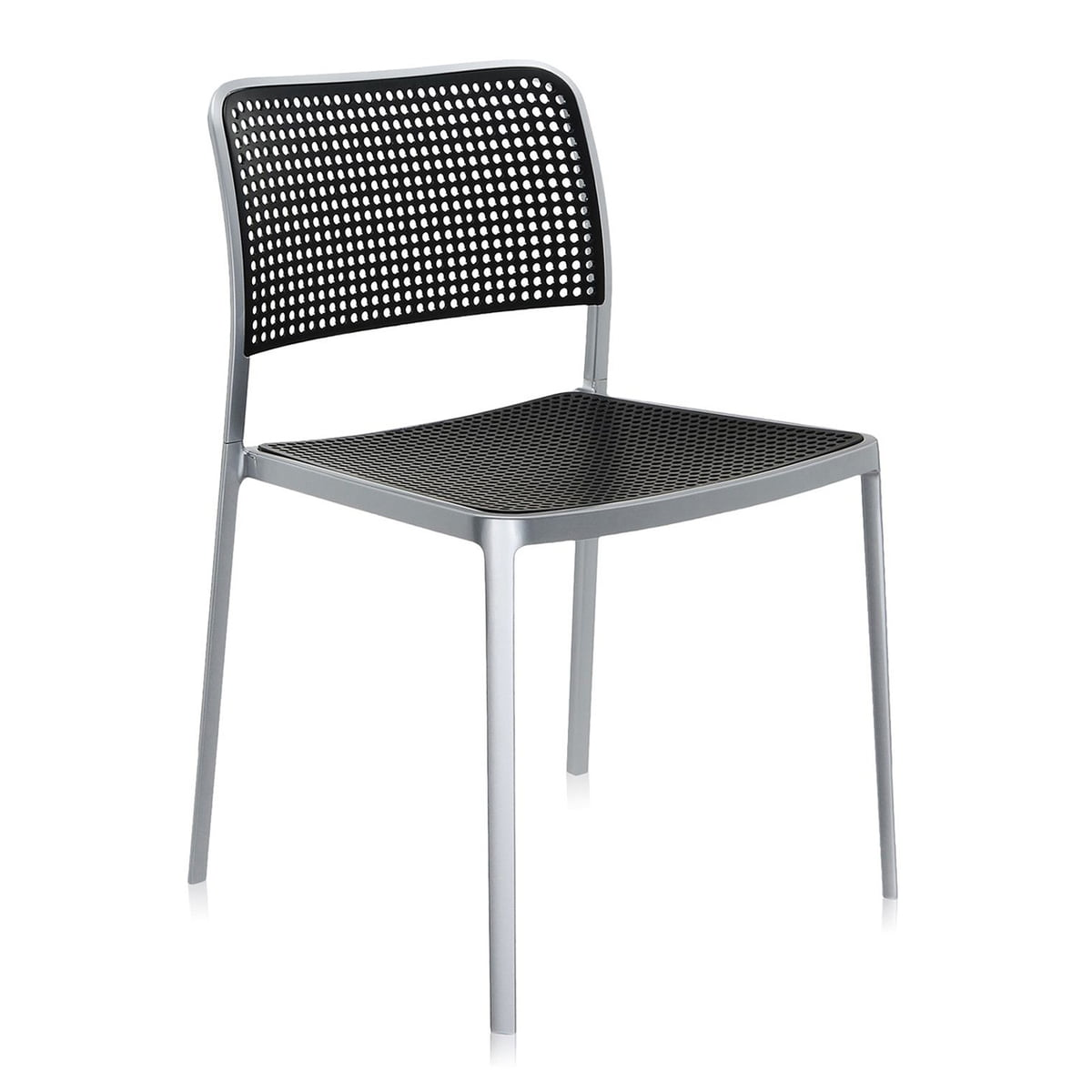 Awesome Kartell   Audrey Chair, Without Arm Rest, Aluminium / Black