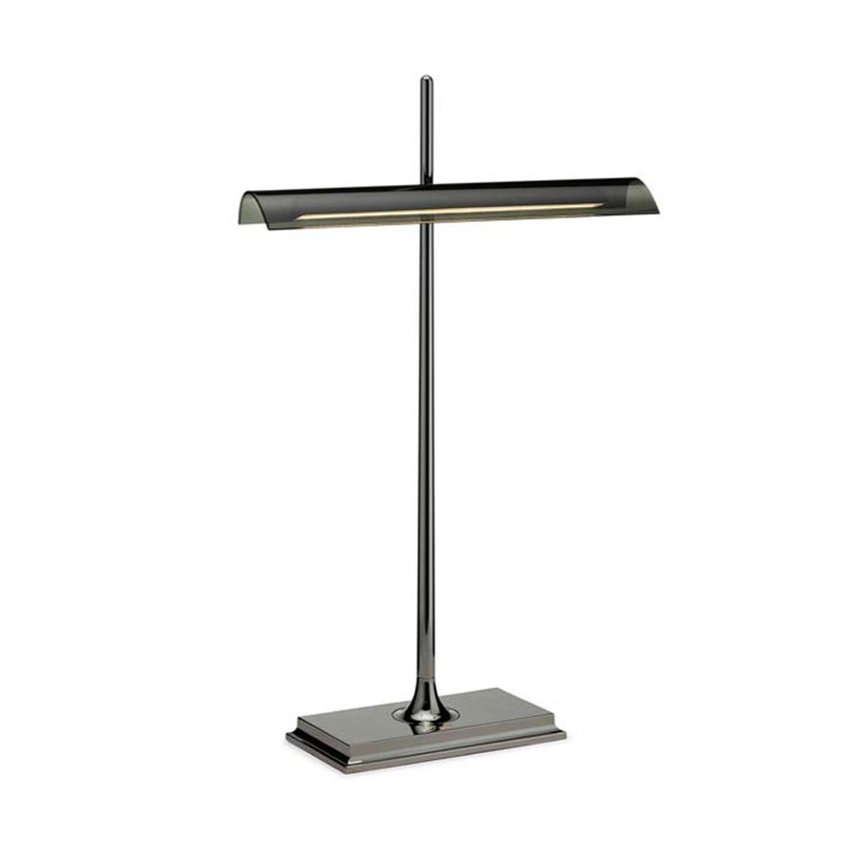 Flos   Goldman Table Lamp, Nickel Base And Smoke Grey Diffusor